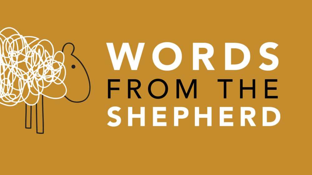 Words from the Shepherd