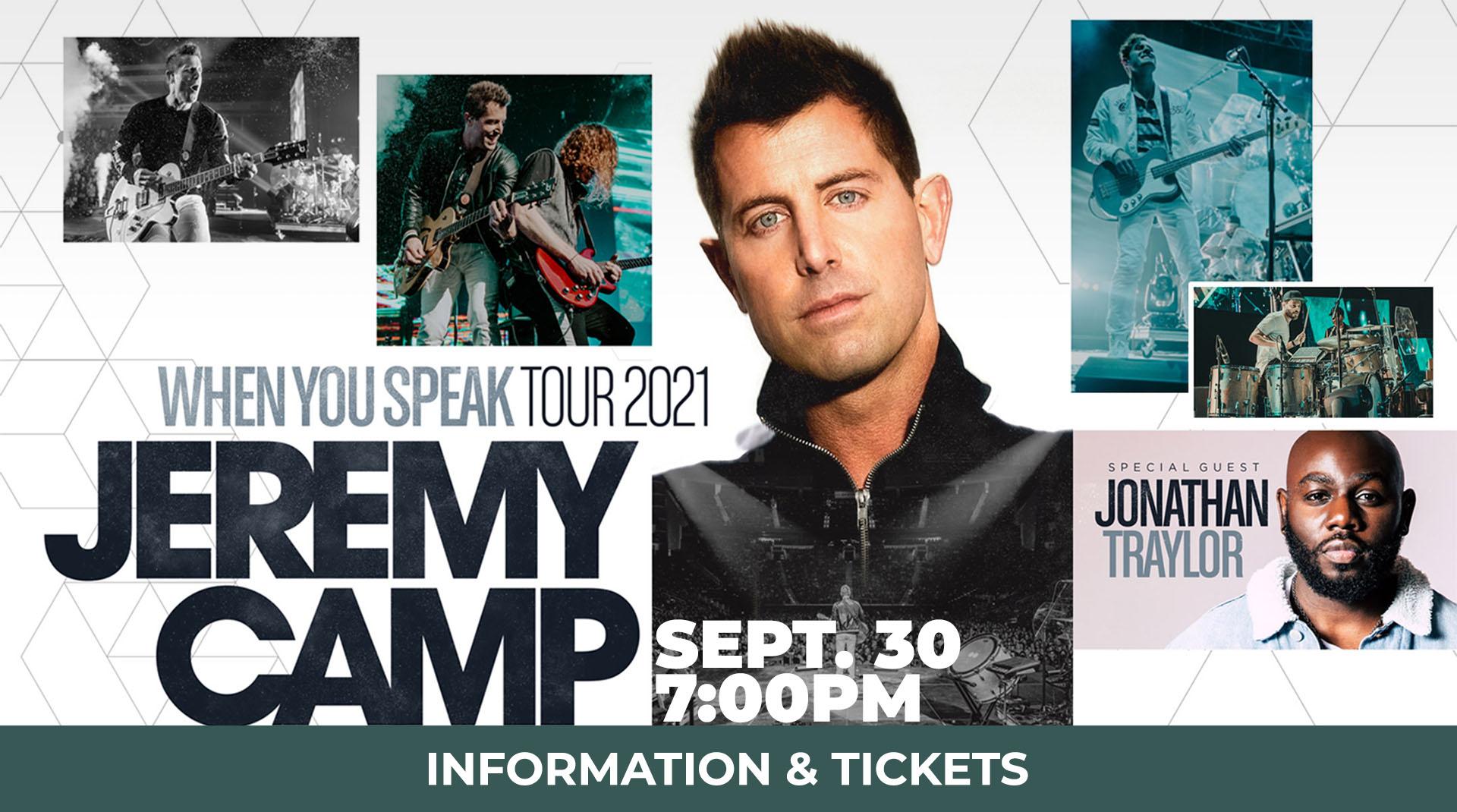 Jeremy Camp You Speak Tour